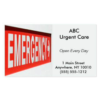 Emergency Business Card