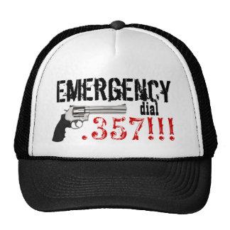 Emergency Dial .357 !!!  357 Gun Mesh Hats