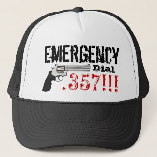 Emergency Dial 357 Trucker Hat
