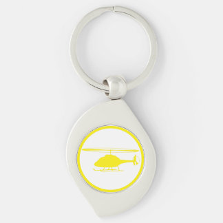 emergency evacuation due to science Silver-Colored swirl key ring