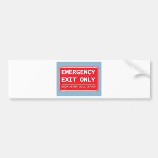 Emergency Exit Only Door Alarm Will Sound Sign Bumper Sticker
