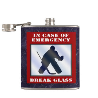 Emergency Hockey Goalie Hip Flask