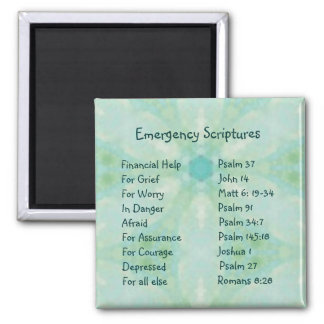 Emergency Information Scriptures for Encouragement Magnet