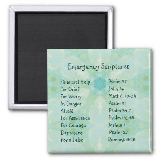 Emergency Information Scriptures for Encouragement Fridge Magnets