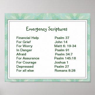 Emergency Information Scriptures for Encouragement Poster