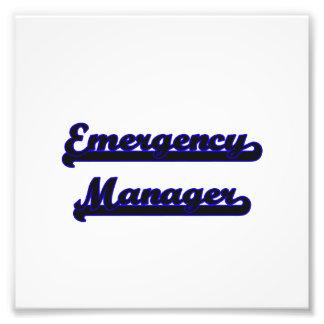 Emergency Manager Classic Job Design Photo Print