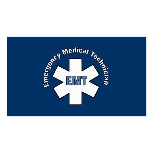 Emergency Med Tech Business Cards