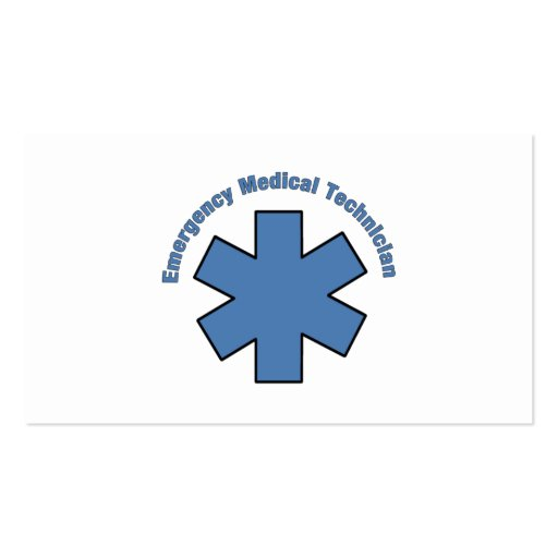 Emergency Med Tech Business Card Template