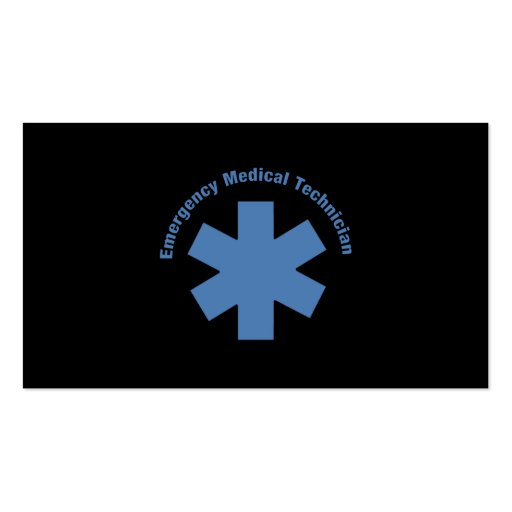 Emergency Med Tech Business Card Templates