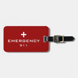 Emergency Medical ID Luggage Tag