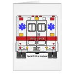 Emergency Medical Services Ambulance (EMS) Greeting Card