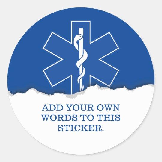Emergency Medical Services Custom Classic Round Sticker