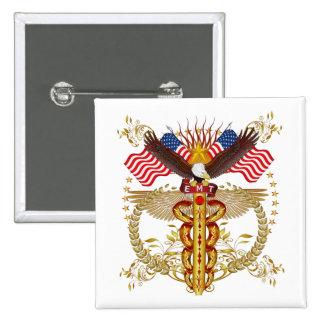 Emergency Medical Technician EMT-2R 15 Cm Square Badge
