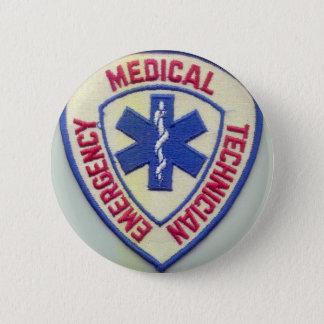 EMERGENCY MEDICAL TECHNICIAN EMT 6 CM ROUND BADGE