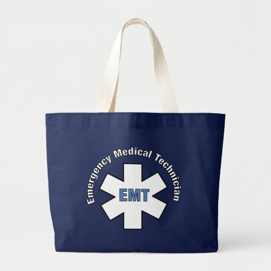 Emergency Medical Technician Large Tote Bag