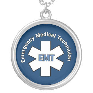 Emergency Medical Technician Silver Plated Necklace