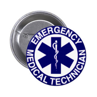 EMERGENCY MEDICAL TECHNICIANS EMT 6 CM ROUND BADGE