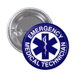 EMERGENCY MEDICAL TECHNICIANS EMT 3 CM ROUND BADGE
