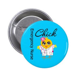 Emergency Nurse Chick v2 6 Cm Round Badge