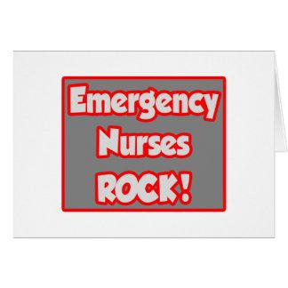 Emergency Nurses Rock Greeting Card