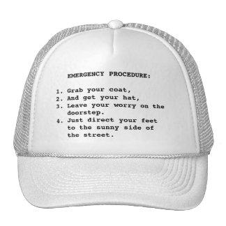 EMERGENCY PROCEDURE CAP