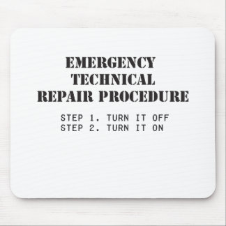 Emergency Technical Repair Procedure Mouse Mat
