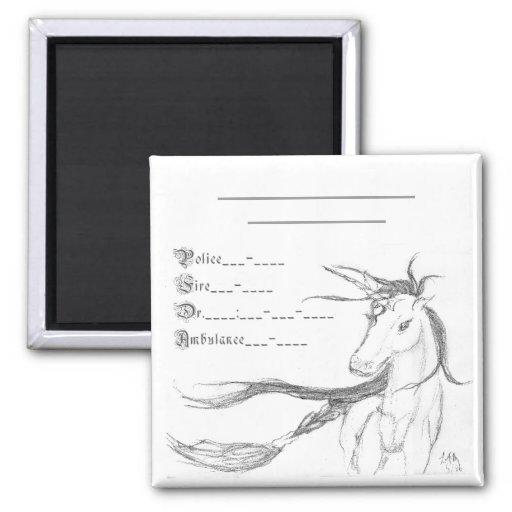 Emergency unicorn, fridge magnets