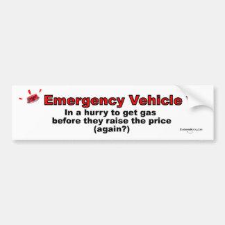 Emergency Vehicle Bumper Sticker