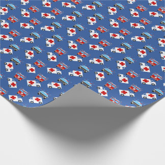 Emergency Vehicle   Fire   Police   EMT Wrapping Paper