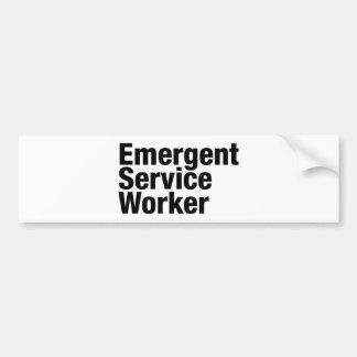 Emergent Service Worker Bumper Sticker
