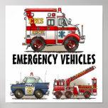 Emergiency Vehicles Poster 1