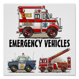 Emergiency Vehicles Poster 1
