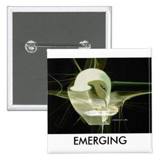 Emerging 15 Cm Square Badge