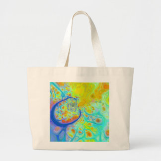 Emerging Galaxies – Teal Lime Currents Canvas Bags