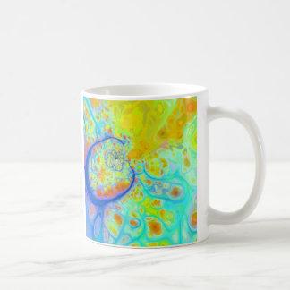 Emerging Galaxies – Teal & Lime Currents Basic White Mug