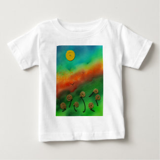 Emerging Snail flowers Baby T-Shirt