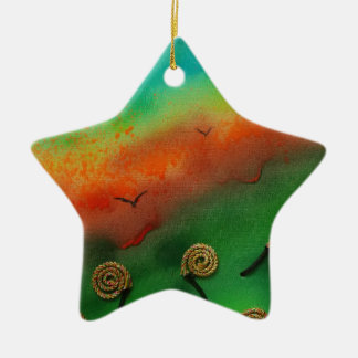 Emerging Snail flowers Christmas Ornament