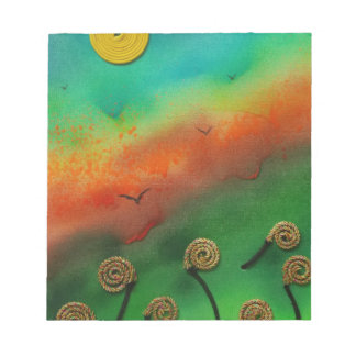 Emerging Snail flowers Notepads