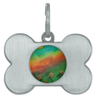 Emerging Snail flowers Pet ID Tags