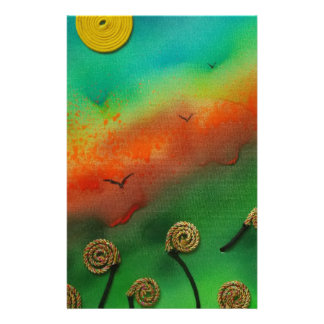 Emerging Snail flowers Stationery