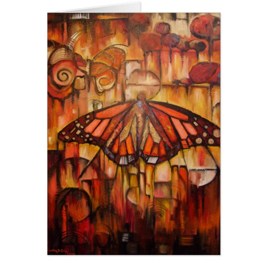 Emerging Wings of Autumn - Greeting Card