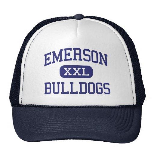 Emerson - Bulldogs - High - Union City New Jersey Trucker Hats