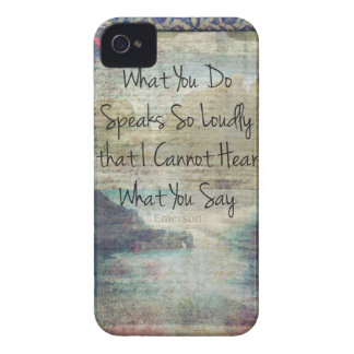 Emerson inspirational quote about life iPhone 4 cases