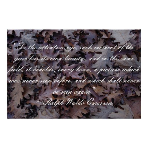 Emerson Nature Quote Poster