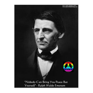 "Emerson ""Peace Is Within"" Wisdom Quote Gifts & Tee Postcard"