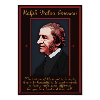 Emerson - Purpose of Life Poster