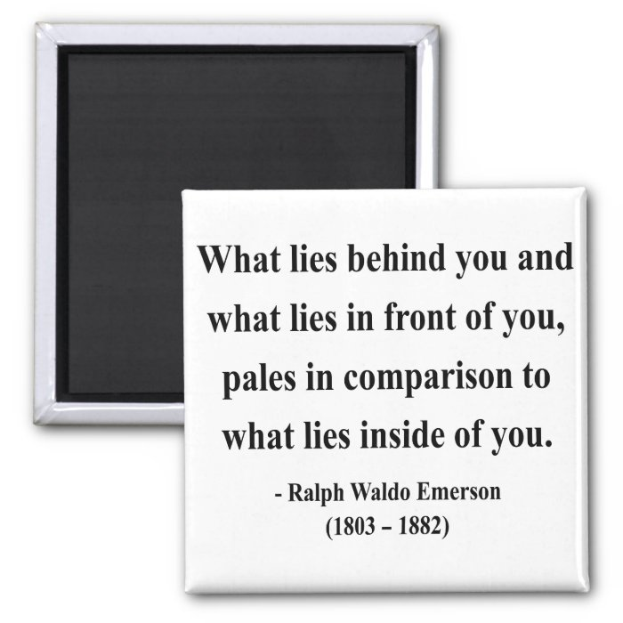 Emerson Quote 2a Square Magnet