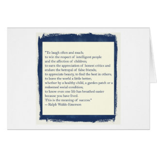 Emerson Quote Greeting Card