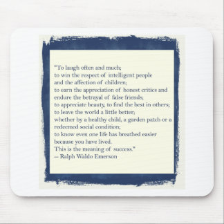Emerson Quote Mouse Pad