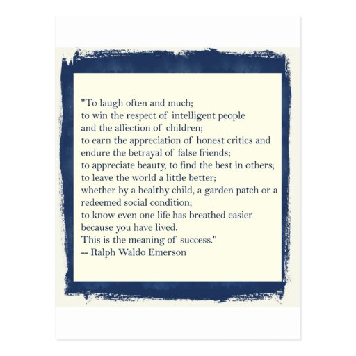 Emerson Quote Post Card